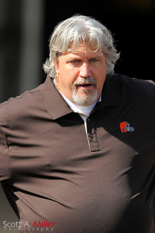 Cleveland Browns defensive coordinator Rob Ryan during the Browns game against the Jacksonville Jaguars at EverBank Field on Nov. 21, 2010 in Jacksonville, Florida...©2010 Scott A. Miller