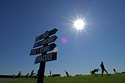 NORMANDY, FRANCE - MAY-01-2007 - Omaha Beach Golf Club -  On the practice greens at the Omaha Beach Golf Club. (Photo © Jock Fistick)