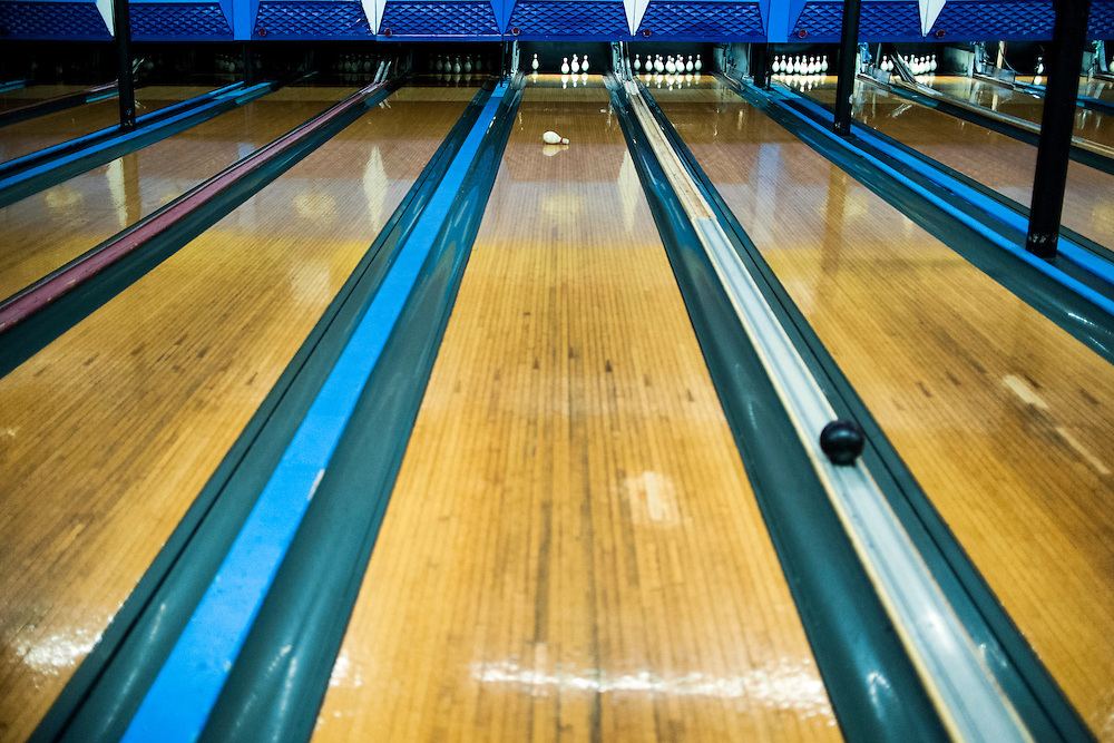 Photo by Matt Roth<br /> <br /> during duckpin bowling league at Stoneleigh Lanes in Stoneleigh, Maryland on Sunday, June 17, 2012
