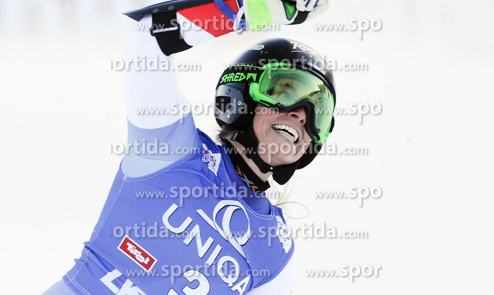 28.12.2015, Hochstein, Lienz, AUT, FIS Weltcup Ski Alpin, Lienz, Riesenslalom, Damen, 2. Durchgang, im Bild Lara Gut (SUI) // Lara Gut of Switzerland reacts after 2nd run of ladies Giant Slalom of the Lienz FIS Ski Alpine World Cup at the Hochstein in Lienz, Austria on 2015/12/28. EXPA Pictures © 2015, PhotoCredit: EXPA/ Erich Spiess