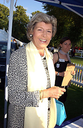 MRS CAROLYN BENSON at the Royal Windsor Charity Race Evening in aid of the Great Ormond Street Hospital Children's Charity held at Windsor Racecourse, Berkshire on 5th July 2004.