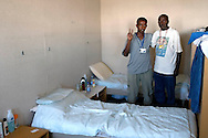 Roma 29 Agosto 2008.Centro accoglienza rifugiati di Castelnuovo di Porto..Refugee acceptance centre of Castelnuovo di Porto..somali immigrants.