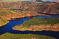 Flaming Gorge Reservoir on the Utah Wyoming Border