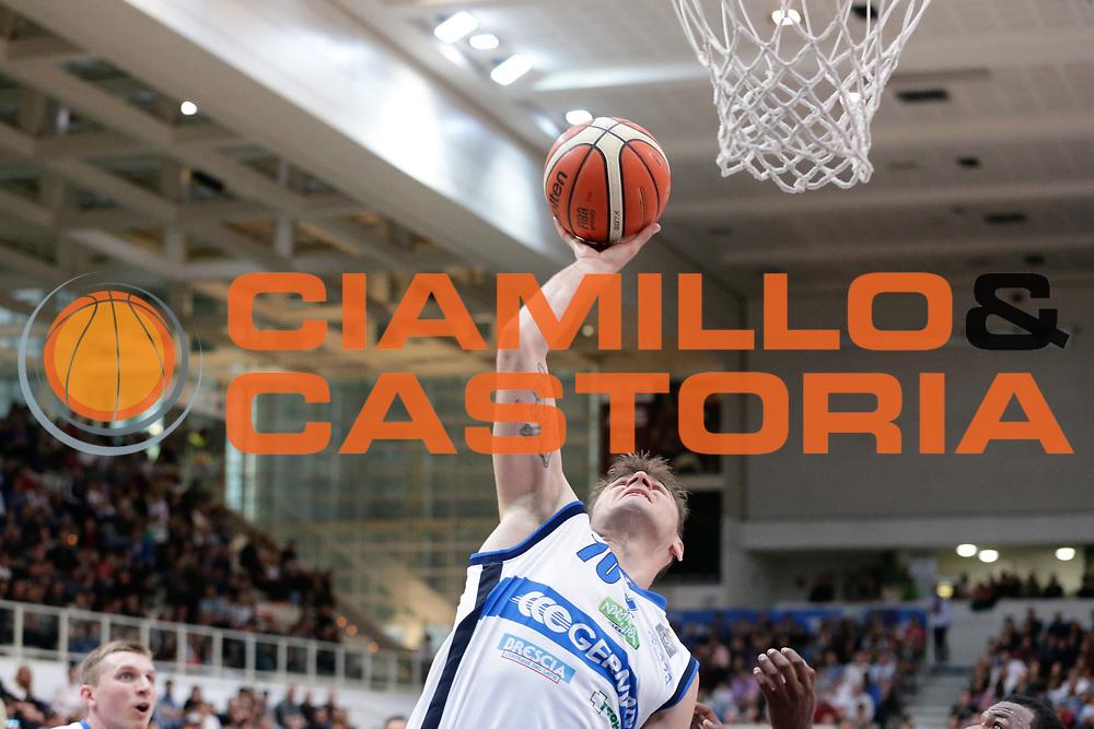 Franko Bushati<br /> Dolomiti Energia Aquila Basket Trento - Germani Basket Brescia Leonessa<br /> Lega Basket Serie A 2016/2017<br /> PalaTrento, 23/04/2017<br /> Foto Ciamillo-Castoria / M. Brondi