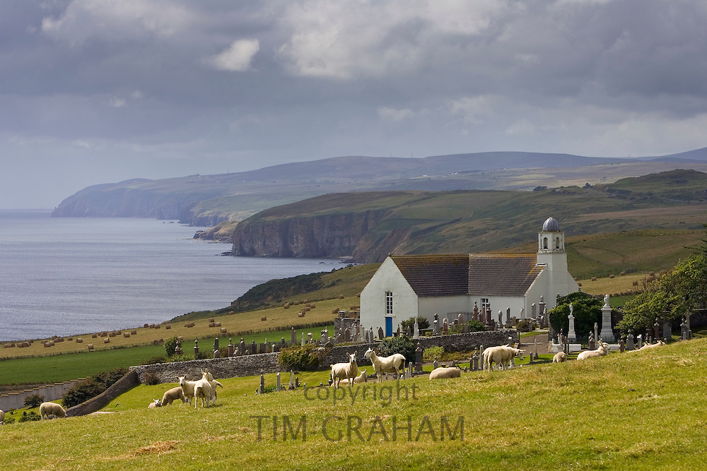 Canisbay church and graveyard in Caithness, Scotland, United Kingdom