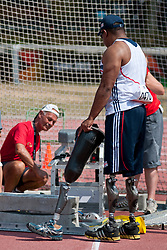 Behind the scenes, DERENALAGI Derek, GBR, Discus, F57/58, 2013 IPC Athletics World Championships, Lyon, France