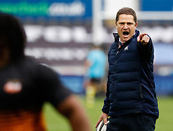 Cheetahs Coach Charl Strydom during the pre match warm up<br /> <br /> Photographer Simon King/Replay Images<br /> <br /> Guinness PRO14 Round 2 - Ospreys v Cheetahs - Saturday 8th September 2018 - Liberty Stadium - Swansea<br /> <br /> World Copyright © Replay Images . All rights reserved. info@replayimages.co.uk - http://replayimages.co.uk