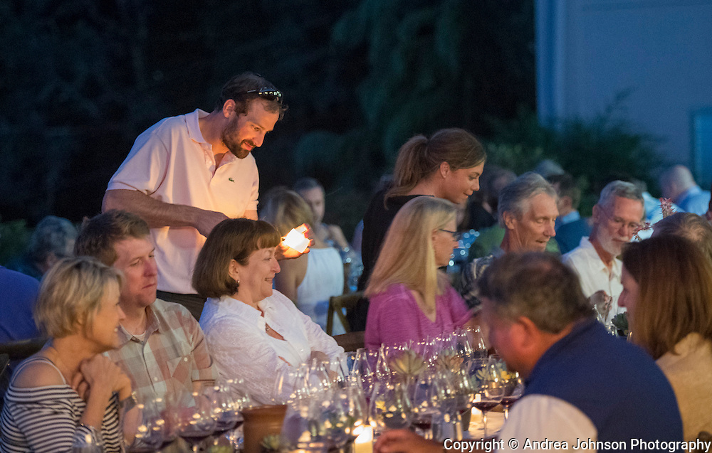 """Around the Fire:  an evening with Cristom Vineyards & Ox"", for pre-IPNC 2016 dinner, Eola-Amity, Willamette Valley, Oregon"