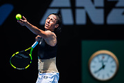 MELBOURNE, VIC - JANUARY 15: FRANCESCA SCHIAVONE (ITA) during day one match of the 2018 Australian Open on January 15, 2018 at Melbourne Park Tennis Centre Melbourne, Australia. (Photo by Chaz Niell/Icon Sportswire)