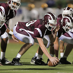31 October, 2008:  St. Thomas Aquinas C/DT Michael Prenger (#60) The St. Thomas Falcons recorded their first shut out of the season with a 41-0 shutout of the Southern Lab Kittens at Strawberry Stadium in Hammond, LA.