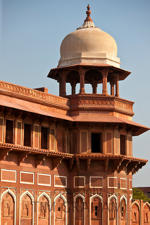 Agra Fort the Jahangir Mahal, zenana palace residence of Rajput wives of Mughal Emperor Akbar