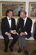 Michael Portillo and Patrick Procter. Royal Academy Annual dinner. Royal Academy. 30 May 2001. © Copyright Photograph by Dafydd Jones 66 Stockwell Park Rd. London SW9 0DA Tel 020 7733 0108 www.dafjones.com