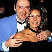 Nieuwjaarsreceptie Strengholt, Peter Douglas en vrouw Monique Carbiere