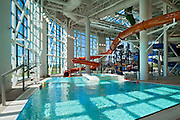 Jul 11, 2011 - McMinnville, Oregon, USA - A new water park in Oregon features four water slides that come from the fuselage of a Boeing 747 jumbo jet parked on the roof. The park is part of Evergreen Aviation & Space Museum and ten slides with aeronautical themed names such as Tail Spin, Mach 1, Sonic Boom and Nose Dive.<br /> (Credit Image: ©Evergreen Aviation/Exclusivepix