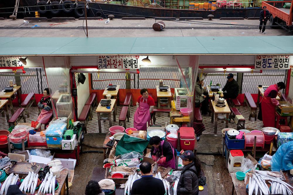 Jagalchi Fish Market, Busan, South Korea, Republic of Korea, KOR, 12 February 2010.