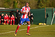 Dorking Wanderers Jerome Beckles during the Ryman League - Div One South match between Dorking Wanderers and Lewes FC at Westhumble Playing Fields, Dorking, United Kingdom on 28 January 2017. Photo by Jon Bromley.