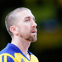 11 April 2014: Golden State Warriors guard Steve Blake (25) warms up prior to the Golden State Warriors 112-95 victory over the Los Angeles Lakers at the Staples Center, Los Angeles, California, USA.