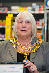 Lloyds Pharmacy Stocksbridge has achieved the status of 'Healthy Living Pharmacy'. A special accreditation for offering high levels of health screening  and advice to the local community<br /> <br /> Mayor of Stocksbridge Susie Abrahams<br /> <br /> <br /> <br /> 04 October 2012<br /> Image © Paul David Drabble