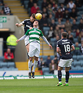 Dundee&rsquo;s Kerr Waddell out jumps Buckie Thistle&rsquo;s Steven Ross - Dundee v Buckie Thistle, Betfred Cup at Dens Park, Dundee, Photo: David Young<br /> <br />  - &copy; David Young - www.davidyoungphoto.co.uk - email: davidyoungphoto@gmail.com