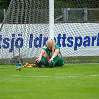 2020-07-29 | Vittsjö, Sverige:  IK Uppsala's (1) Emma Holmgren under matchen i OBOS Damallsvenskan mellan Vittsjö GIK och IK Uppsala på Vittsjö IP ( Foto av: Henrik Eberlund | Swe Press Photo )<br /> <br /> Nyckelord: Vittsjö, Fotboll, OBOS Damallsvenskan, Vittsjö IP, Vittsjö GIK, IK Uppsala, HEVU200729