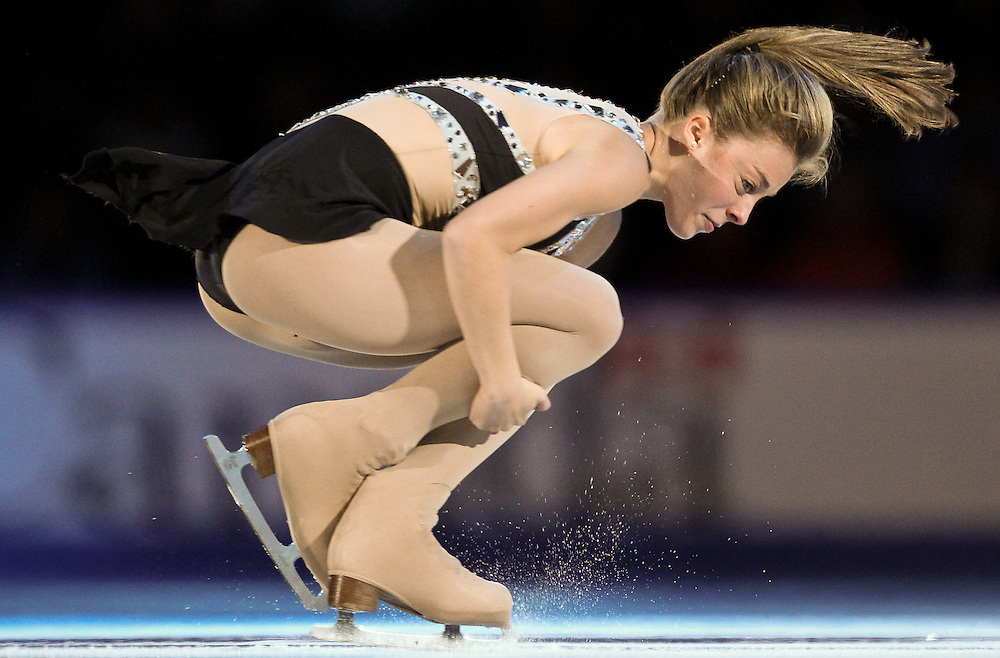 GJR474 -20111030- Mississauga, Ontario,Canada-  Ashley Wagner of the United States performs during the Exhibition Gala at Skate Canada International, in Mississauga, Ontario, October 30, 2011.<br /> AFP PHOTO/Geoff Robins