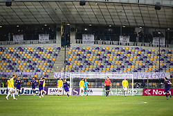 Empty seats at Viole supporters sector during football match between NK Maribor and NK Bravo in 25th Round of Prva liga Telekom Slovenije 2019/20, on March 7, 2020 in Ljudski vrt, Maribor, Slovenia. Photo by Blaž Weindorfer / Sportida