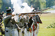 The Battle of Crysler's Farm  U.S. lines returns volley fire during Chippawa re-enactment  The Battle of Crysler's Farm.