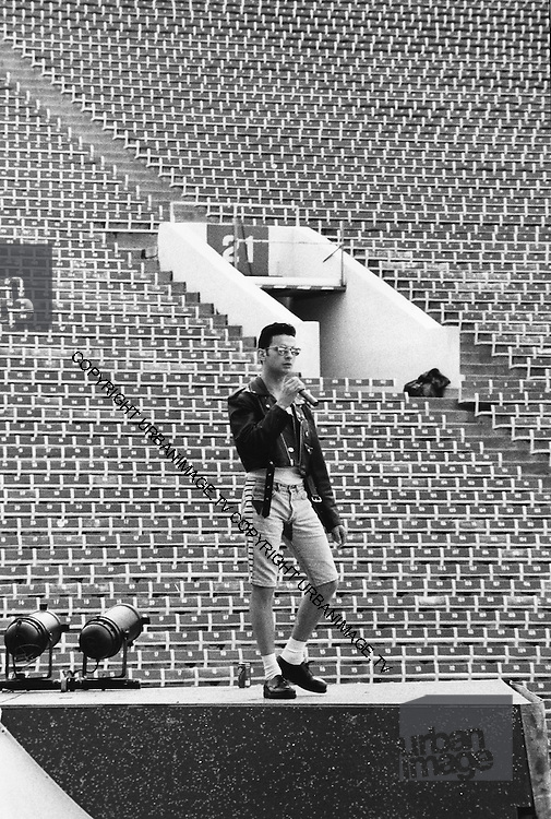 David Gahan - Depeche Mode performing live at Pasadena Rose Bowl, June 1988.