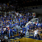"The Drake student section, ""The Dog Pound"", support the Bulldogs in their annual rivalry game with the University of Iowa.  photo by david peterson"