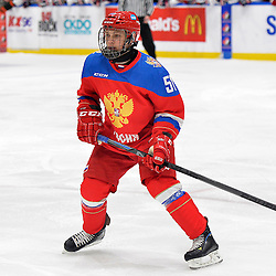 WHITBY, - Dec 17, 2015 -  Game #10 - United States vs. Russia at the 2015 World Junior A Challenge at the Iroquois Park Recreation Complex, ON.  Nikolay Kovalenko #51 of Team Russia during the first period.<br /> (Photo: Shawn Muir / OJHL Images)