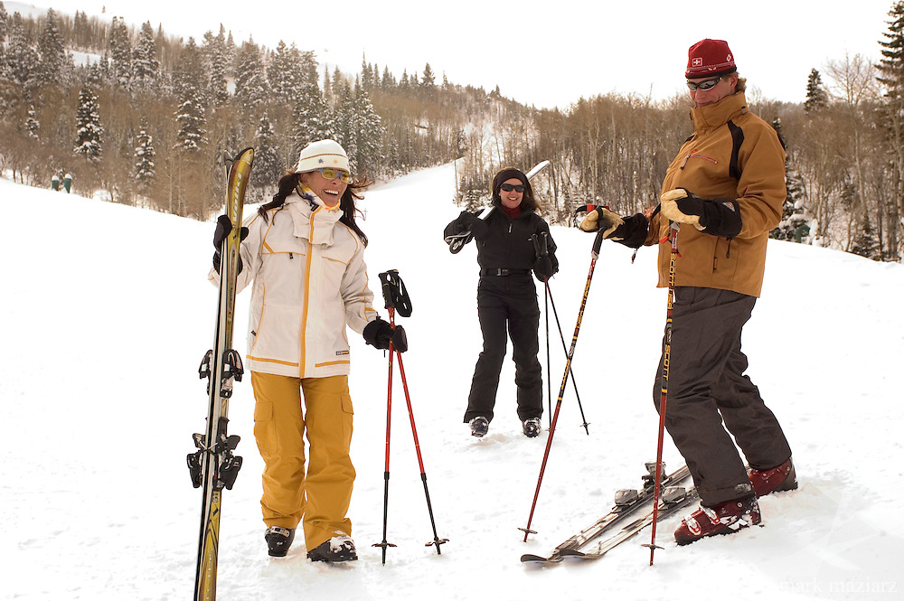 skiing in the Deer Crest area of Deer Valley Resort, Park City, UT USA