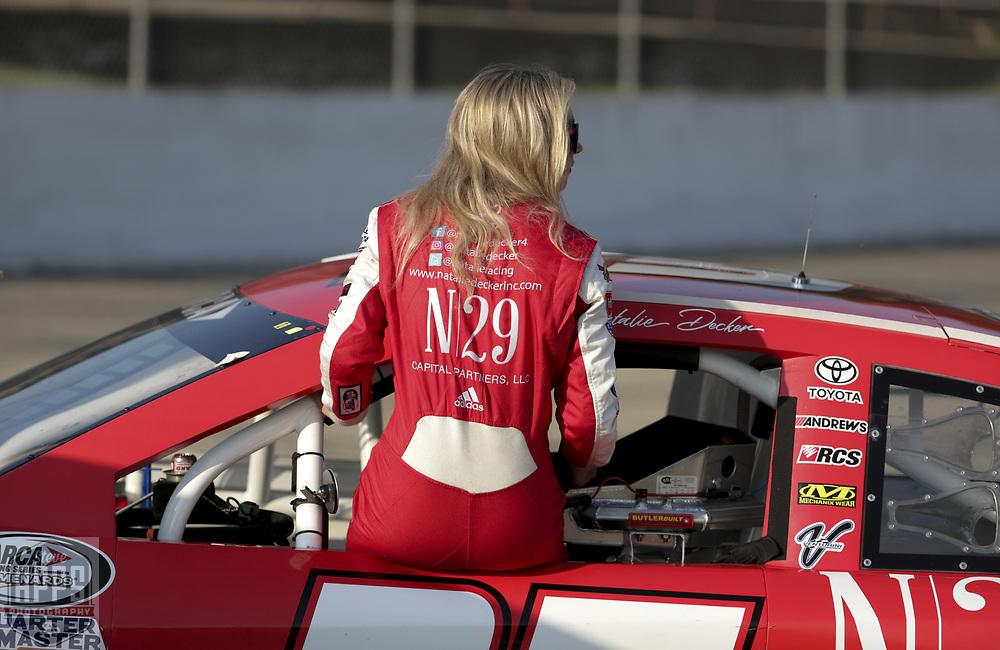 Natalie Decker raced Friday, June 15, 2018 in the Herr's Potato Chips 200 at Madison International Speedway in Oregon, Wisconsin.