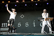 Austin Electro-trap duo Missio perform at Music Midtown Sunday.