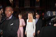 GWYNETH PALTROW, London fundraising dinner for President Barack Obama. <br /> <br /> Mark's Club, 46 Charles Street, London, W1J 5EJ, 19 September 2012