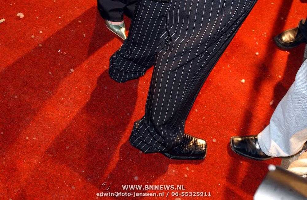 Premiere Polar Express, JK Idols en vriendin, veel te lange broek, lange pijpen