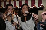 Candice Bordeaux and Stefanie Castillon , Moet Mirage, Holland Park. 16 September 2007. -DO NOT ARCHIVE-© Copyright Photograph by Dafydd Jones. 248 Clapham Rd. London SW9 0PZ. Tel 0207 820 0771. www.dafjones.com.