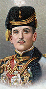 Alexander I (1888-1934) King of Serbs, Croats and Slovenes (1921-1929), King of Yugoslavia (1929-1934). In uniform as Commander-in-C hief of the Serbian army in World War I when Crown Prince of Serbia.  Assassinated on 9 October 1934. Chromolithograph card of 1917.