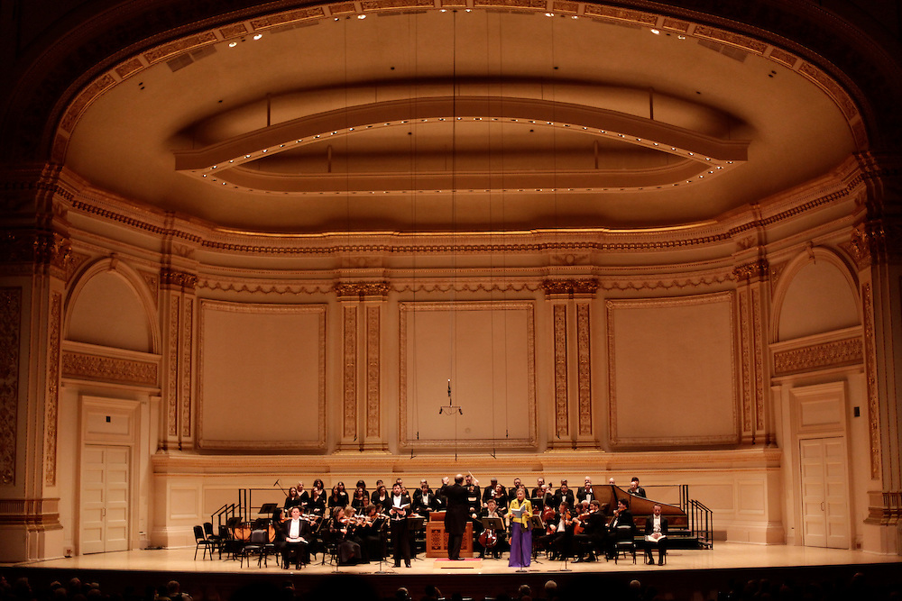 Les Violons du Roy, La Chapelle de Québec perform at Carnegie Hall on December 11, 2009 in New York city. photo by Joe Kohen for The New York Times
