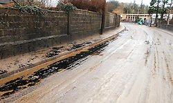 Oil Leak at the Northern Feather Lidl Site on the New Road in Westport...Pic Conor McKeown