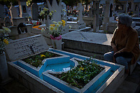 """In the town of Comanja, Michoacan, locals celebrate """"Dia de los Muertos"""" (Day of the Dead) on Nov. 2, 2011. The ritual has profound significance for the local people who celebrate deceased loved ones on the cheerful and solemn occasion. ..©Benjamin B Morris"""