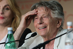 Emmanuelle Seigner, Roman Polanski during the press conference for the film 'D' apes une histoire vraie' , held at the Palais des Festivals, during the 70th Cannes Film Festival, on May 27, 2017, in Cannes, France. Pool Photo by Jean-Marc Haedrich/ABACAPRESS.COM