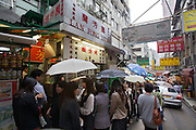 China, Hong Kong S.A.R..Lan Fong Yuen, famous tea restaurant in Hong Kong.