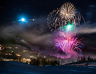 Fireworks over Snowmass, Colorado.