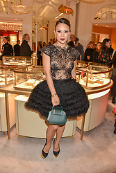 Vicky Lee at the reopening of the Cartier Boutique, New Bond Street, London, England. 31 January 2019. <br /> <br /> ***For fees please contact us prior to publication***