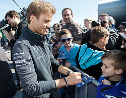 04.05.2014, Hockenheimring, Hockenheim, GER, DTM, 1. Lauf, Hockenheimring, Pressekonferenz, im Bild Nico Rosberg gibt Autogramme // during a press Conference prior to the 1th run of DTM at the Hockenheimring in Hockenheim, Germany on 2014/05/04. EXPA Pictures © 2014, PhotoCredit: EXPA/ Eibner-Pressefoto/ Neis<br /> <br /> *****ATTENTION - OUT of GER*****