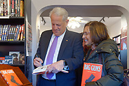 Rockville Centre, New York, USA. April 201, 2018. Rep. STEVE ISRAEL signs book for fan at special event for Nassau County debut of the former Congressman's newest novel BIG GUNS - a satire of the strong gun lobby, weak Congress, and a small Long Island town. The talk and book signing was held at Turn of the Corkscrew Books & Wine store.