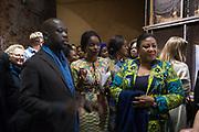 SIR DAVID ADJAYE, NANA OFORIATTA AYIM , CURATOR, FIRST LADY OF GHANA WIFE OF THE PRESIDENT, OPENING OF THE GHANA PAVILION, Designed by David Adjaye, Opening of the Venice Biennale, Venice, 8 May 2019