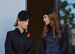 The Countess of Wessex, The Duchess of CambridgeVice  during the annual Remembrance Sunday Service at the Cenotaph, Whitehall, London, United Kingdom. Sunday, 10th November 2013. Picture by i-Images