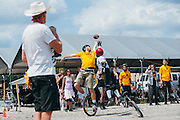The Unicycle Football League semi-finals in San Marcos, Tx., April 8, 2012