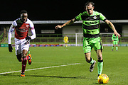 Forest Green Rovers Theo Archibald(18) during the EFL Trophy group stage match between Forest Green Rovers and U21 Arsenal at the New Lawn, Forest Green, United Kingdom on 7 November 2018.
